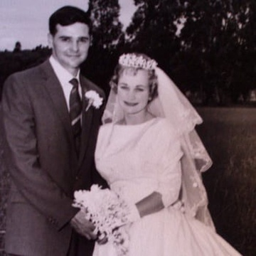 Billy and Frieda on their wedding day